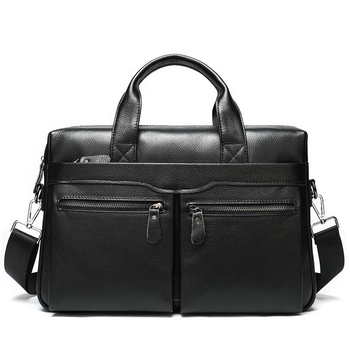 Business Men's Briefcases Men's Bag Genuine Leather Messenger Bags Laptop Bag Leather Briefcase Office Bags for Men