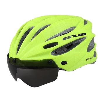 GUB K80 Cycling Helmet with Visor Magnetic Goggles Integrally-molded 58-62cm for Men Women MTB Road Bicycle  Bike Helmet 23