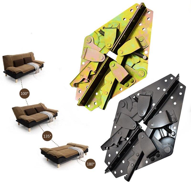 1set=2pcs Metal Folding Bed hinge 3-Position Angle Regulation lazy Sofa self-lock Support Frame Furniture hardware accessories
