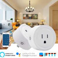 Enchufe inteligente con WiFi para Reino Unido, adaptador para Reino Unido, Control remoto inalámbrico por voz, Monitor de energía, toma de corriente, temporizador, 10A, para aplicación EWeLink Home