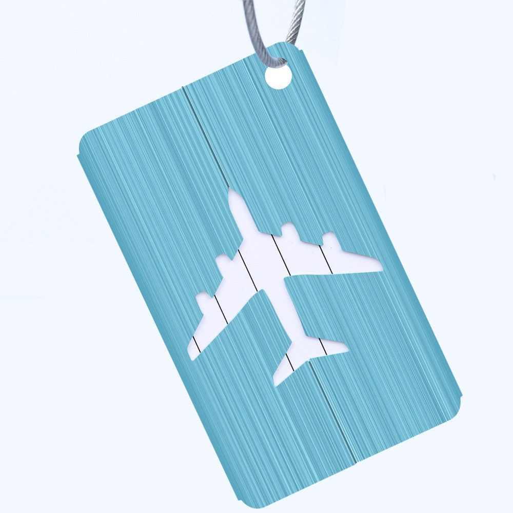 Neue Legierung Gepäck Tags Gepäck Name Tags Koffer Adresse Label Halter Label Riemen Koffer Gepäck Tags Reisen Zubehör