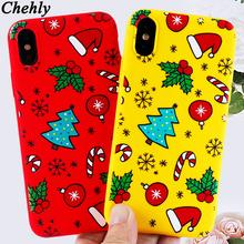 Świąteczne etui na telefon iPhone 6s 7 8 11 12 Mini Plus Pro X XS Max XR SE modne etui z miękkiego silikonu dopasowane akcesoria okładki tanie tanio chehly CN (pochodzenie) Pół-owinięte Przypadku Christmas phone case Apple iphone ów Iphone 6 plus Iphone 6 s plus IPhone 7