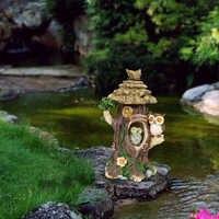 Resin Solar Light Owl Home Decor Ornament decor for Garden Decoration Outdoor Statues Accessories Sculptures Animales Jardin