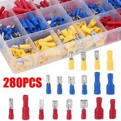 Kit d'assortiment de cosses de câble durables 280, connecteurs plats de fil, bornes à sertir, fournitures d'équipements électriques de voiture
