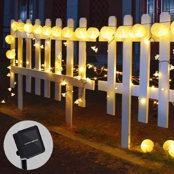 Solar String Lights Lantern Ball 20/30LED Solar Lamp Christmas Fairy Lights for Party Holiday Outdoor Garden Decoration