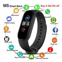 M5 Bracelet à bande intelligente IP67 étanche Smarthwatch tension artérielle traqueur de Fitness Smartband bracelets de Fitness