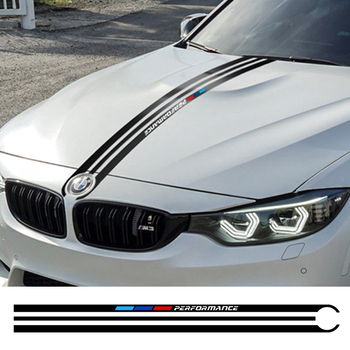 Car Hood Sticker For BMW F10 F20 F30 E36 E39 E46 E60 E70 E71 E90 E92 X1 X3 X5 X6 X7 G30 Motorsport Car Accessories Vinyl Decals image
