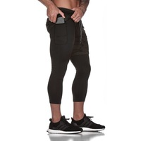 Nice Men Summer Fitness Pants Men Joggers Gymwear Mens Compression Sporting Pants With Built in Pockets Bodybuilding Leggings