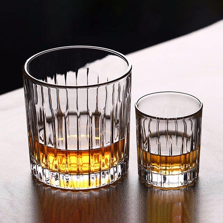1 шт. с пазами для сигарет чашки для сигар бессвинцовый прозрачный стакан для пива домашнее Вино тумблер для виски утолщенное стекло круглая кружка для напитков - Цвет: 70ml