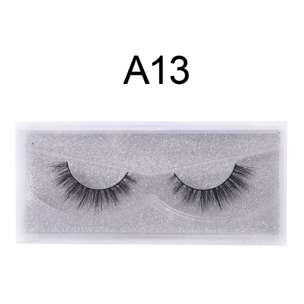 WOWANGEL Natural 3d Mink Eyelashes Vendors 3d Lashes Mink Wholesale False Eyelashes Extension Makeup Maquiagem