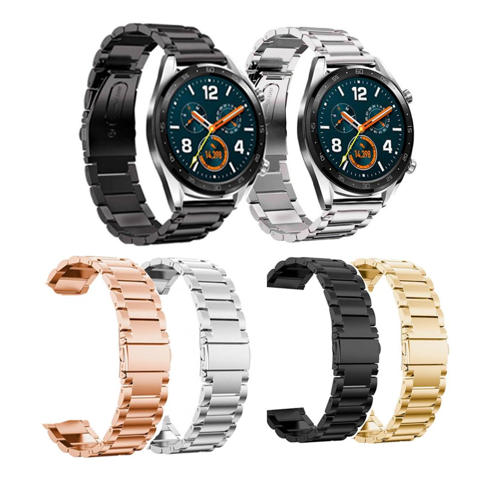 NEW Stainless Steel Strap For Huawei Watch GT And GT2 Model 46mm 42mm Black Silver Gold Fashion Metal Watch Steel Strap Accessor