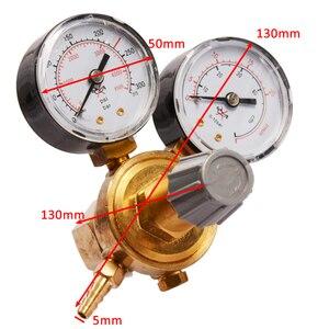 Image 5 - منظم ضغط زجاجة غاز ثاني أكسيد الكربون أرغون صغير مقياس تدفق اللحام MIG TIG W21.8 1/4 منظم 0 20 ميجا باسكال