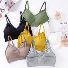 Push Up Women Bra Fitness Bralette Top Wire Free Padded Brassiere Female