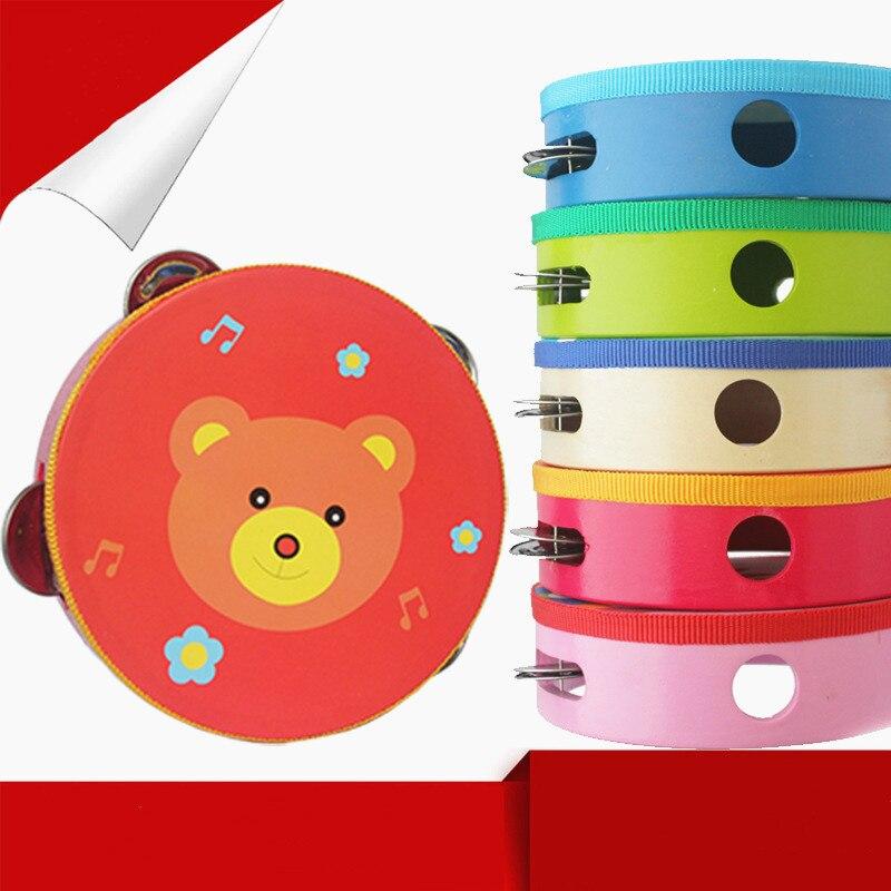 Новый детский музыкальный инструмент, колокольчики, барабан, ручные колокольчики, детская музыкальная игрушка со звуком, Мультяшные развив...