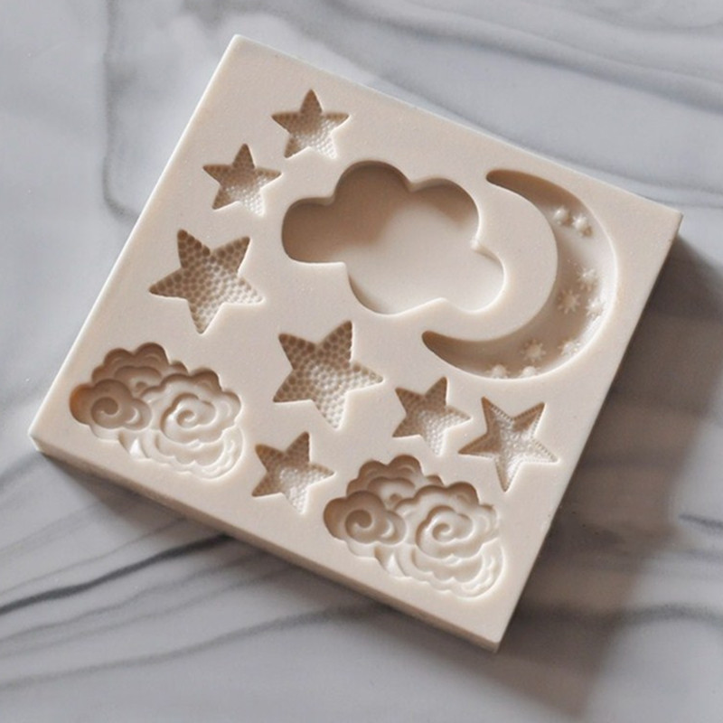 Силиконовая форма в форме звезды, Луны силиконовая форма «сделай сам» помадка торт плесень клейкий Шоколад Плесень устройство для выпечки