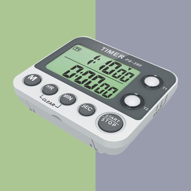 Цифровой таймер с обратным отсчетом, 1/100 градусов, секундомер, кухонный таймер, портативный цифровой электронный таймер, 2 группы, будильник,...