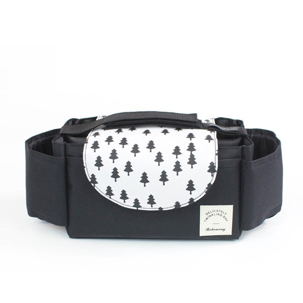 Storage Bag Basket Diaper Pocket Portable Organizer Large Capacity Hanging Baby Stroller Convenient Pushchair Cup Holders