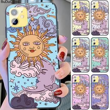 Funny Sun Moon Face Shockproof Phone Case For Iphone 11 12 Pro 11 Pro Max X XS XR XS MAX 8plus 7 6splus 5s Se 7plus SE 2020 image
