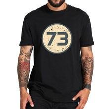 Camiseta con número 73 de Sheldon Cooper, camiseta The Big Bang Theory de la película de talla europea, 100% de algodón, camisetas suaves transpirables, Camiseta de cuello redondo