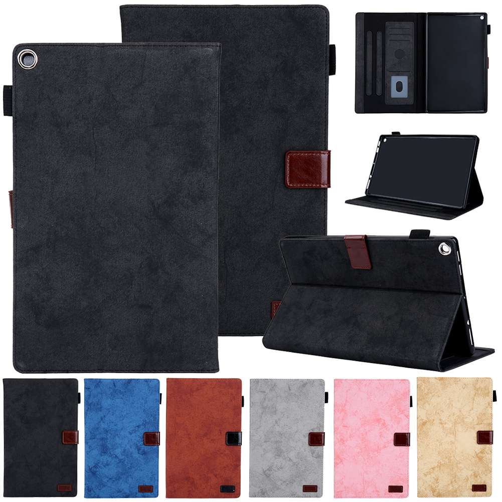 Leather Case For Amazon <font><b>Kindle</b></font> Fire HD <font><b>10</b></font> <font><b>2019</b></font> Smart <font><b>Cover</b></font> Sleep Wake Tablet Protect Case For <font><b>Kindle</b></font> Fire HD <font><b>10</b></font> 2017 <font><b>2019</b></font> <font><b>Cover</b></font> image
