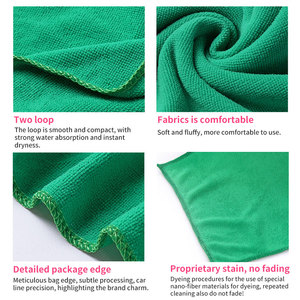 Image 2 - Onever 10pcs Microfiber Clean Auto Car Detail Soft Cloths Towels 25*25cm Home Kitchen Cleaning Tool Car Wash