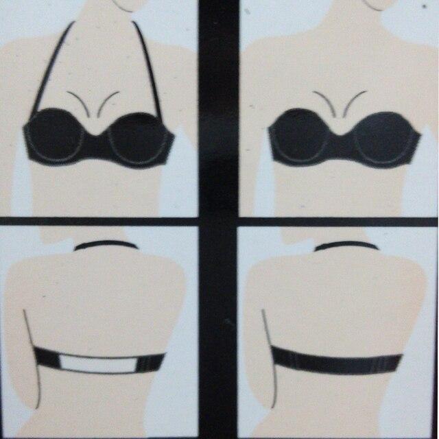 Chaude noir grande taille sous-vêtements à armatures femmes Push Up soutien-gorge licou sans bretelles Sexy mariage A B C D E F 70 75 80 85 90 95 livraison directe