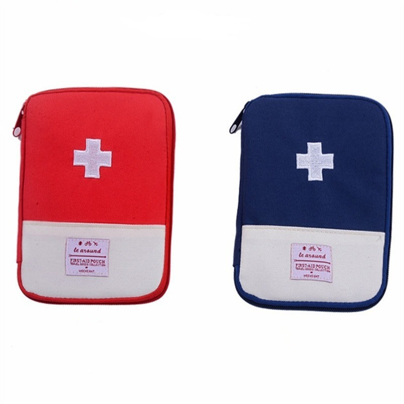 Mini Kit de primeros auxilios al aire libre bolsa de viaje portátil Paquete de medicina Kit de emergencia pequeño organizador divisor de almacenamiento Camping medicina