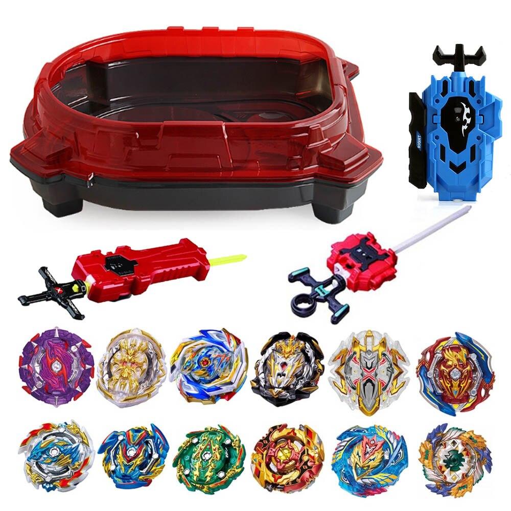 Nouveau jeu déclatement Beyblade hauts jouets arène bayblade lanceurs Toupie métal rafale Avec dieu Bey lame lames jouet 77645