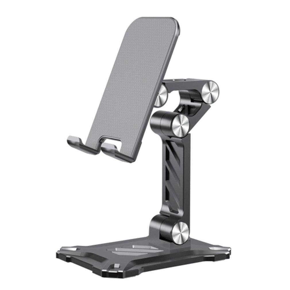 Suporte telescópico do metal antiderrapante da metalurgia do pó da rotação livre do design ergonômico para 4.7-13 Polegada para ipad e tabuleta