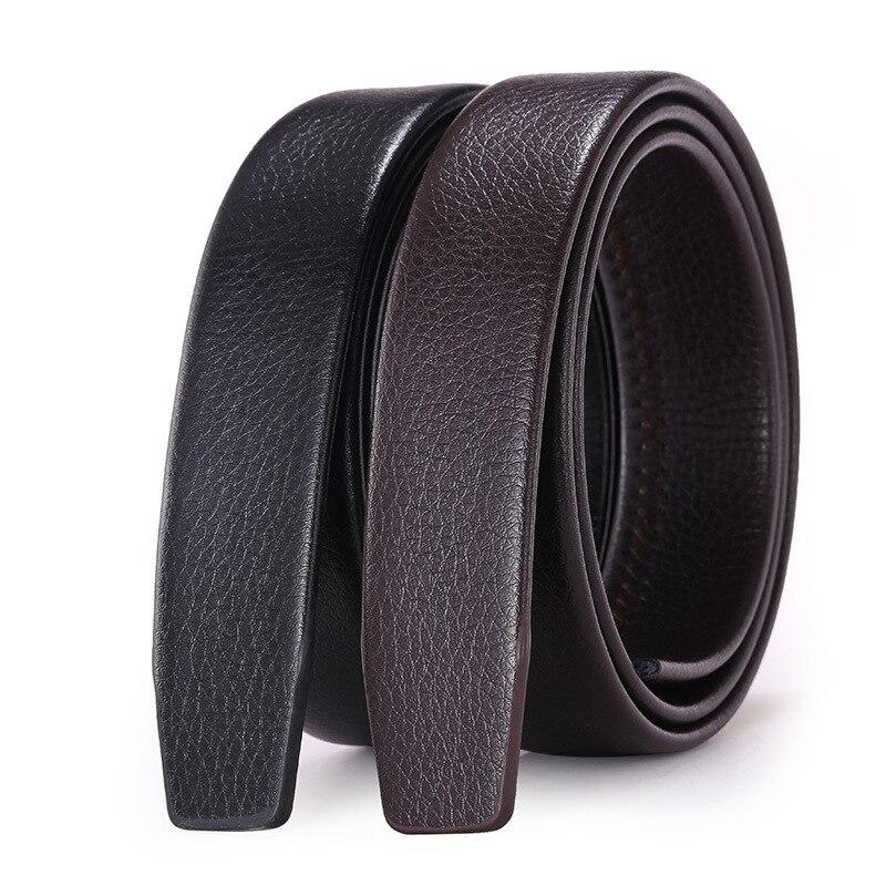 Men's Automatic Buckle Belts No Buckle Belt Brand Belt Men High Quality Male Genuine Strap Jeans Belt 3.5cm Belt G156