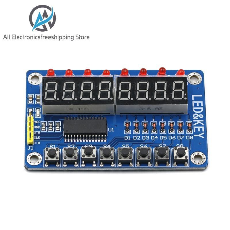1PCS/LOT SPKey Display For AVR Arduino New 8-Bit Digital LED Tube 8-Bit TM1638 Module
