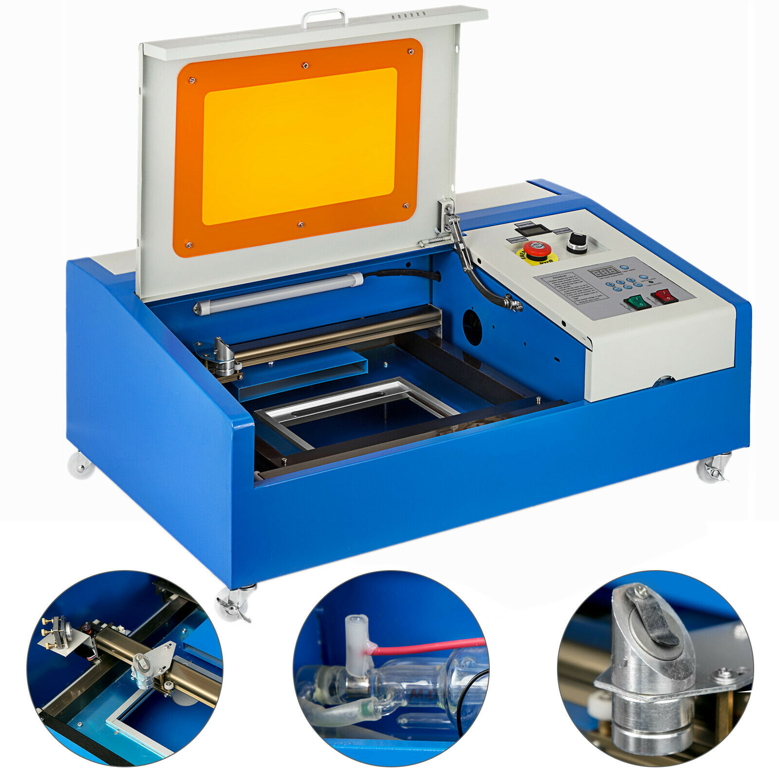 EU Warehouse 40W CO2 Laser Engraver Cutting Engraving Machine USB Port 300x200mm