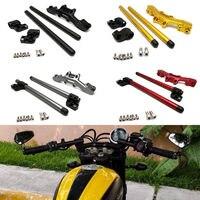 For Ducati Scrambler 2015 2016 2017 Adjustable Handlebars Handle Bar With Clamp Kit Motorcycle Accessories
