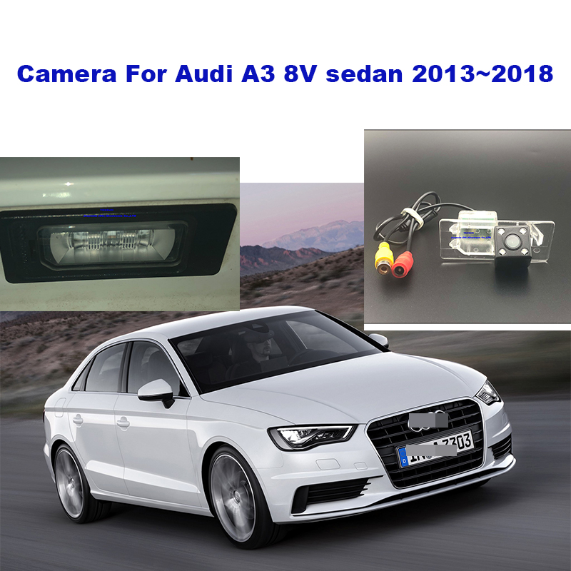 Yessun License plate camera For <font><b>Audi</b></font> <font><b>A3</b></font> <font><b>8V</b></font> <font><b>sedan</b></font> 2013~2018 Car Rear View camera Parking Assistance image