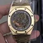Luxus Marke Neue Automatische Mechanische rose gold Männer Uhr Sapphire Glas Transparent Skelett Gold Tourbillon Uhren AAA + - 5