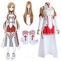 Женский костюм для косплея Asuna Yuuki, полный комплект