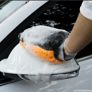 Image 3 - Waterproof Car Wash Microfiber Chenille Gloves Thick Car Cleaning Mitt Wax Detailing Brush Auto Care Double faced Glove