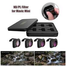 4 adet siyah yağ geçirmez çizilmeye dayanıklı ND/PL filtreler hafif kamera Lens filtre için DJI mavic Mini Drone malzemeleri