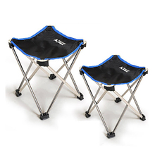 Outdoor camping folding chair portable fishing chair aluminum alloy bench oxford cloth chair small size