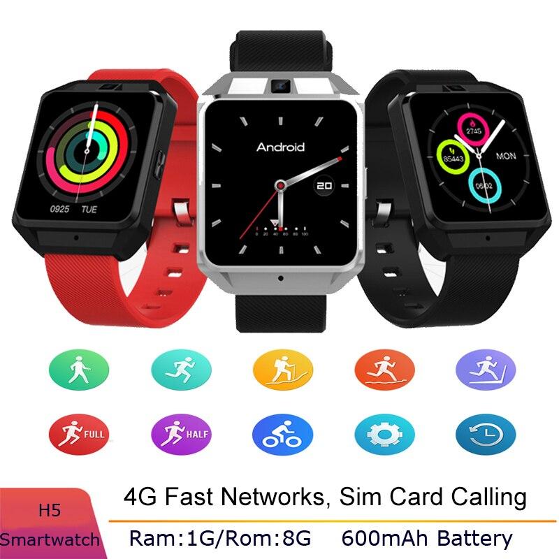 Смарт часы H5 4G для мужчин, WiFi, четырехъядерный процессор, 1 ГБ ОЗУ, 8 Гб ПЗУ, спортивные Смарт часы, монитор сердечного ритма, функция sim карты, д