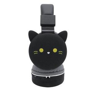 Image 3 - Drahtlose Bluetooth Nette Katze Ohr Kopfhörer Für Kinder Mädchen Faltbare Stereo Kopf Montiert Headset Mit Mikrofon Unterstützung NFC FM