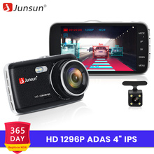 Junsun Video Registrator Car-Dvr-Camera Dvrs Dash-Cam 1296P Dual-Lens ADAS Night-Vision