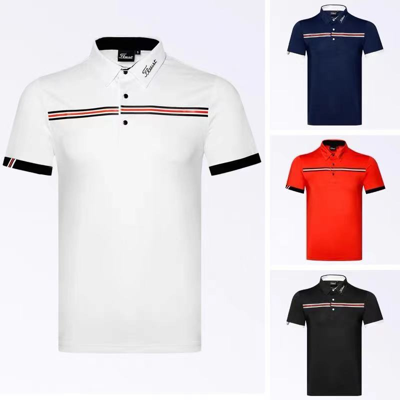 2021 golf clothing men's short-sleeved outdoor sportswear breathable and quick-drying jersey t-shirt polo shirt summer