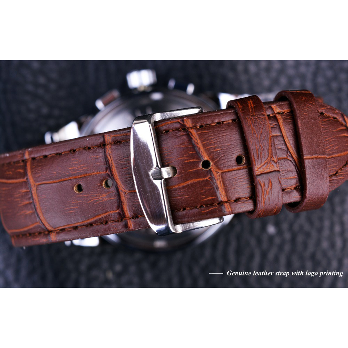 Forsining Moon Phase Shanghai Movement Rose Gold Case Brown Genuine Leather Strap Mens Watches Top Brand Forsining Moon Phase Shanghai Movement Rose Gold Case Brown Genuine Leather Strap Mens Watches Top Brand Luxury Auotmatic Watch