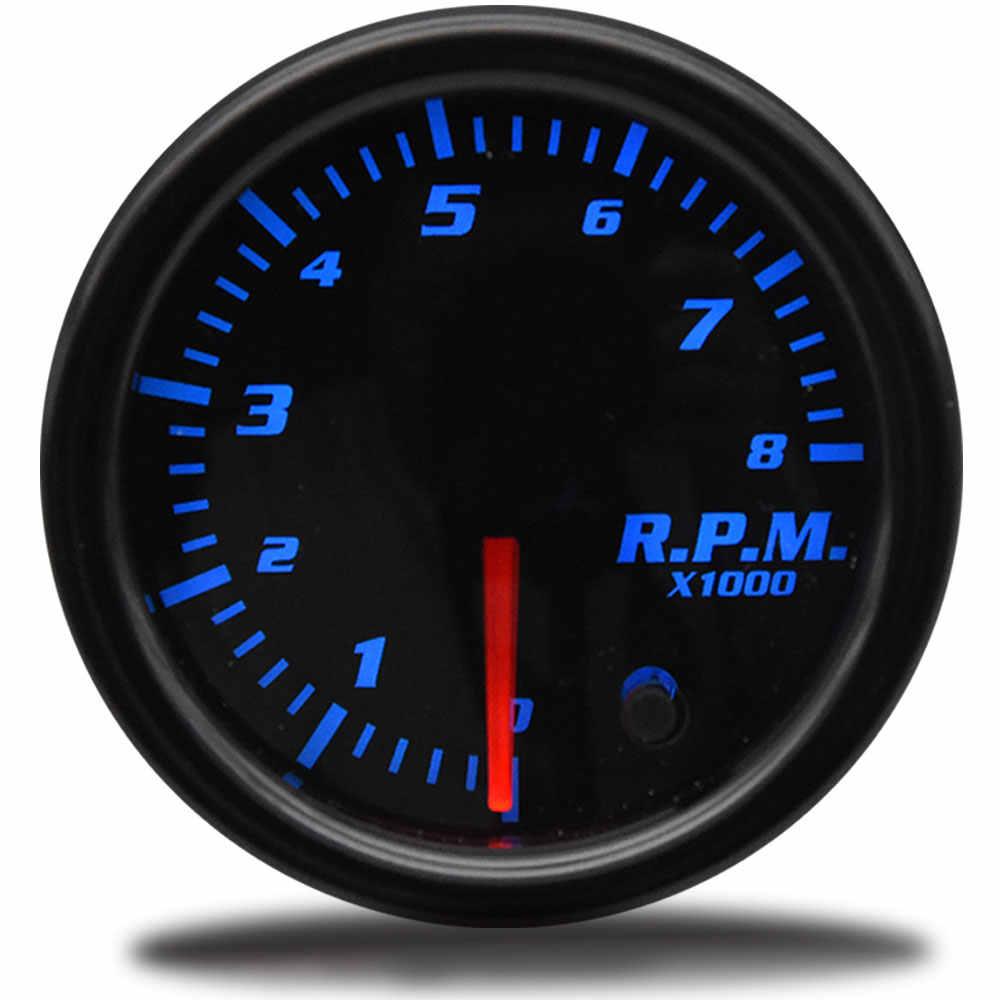 "2 ""52mm รถ TACHOMETER สำหรับมอเตอร์เรือ 12V 1-10 กระบอก 7 สี RPM เครื่องวัดอัตโนมัติเครื่องยนต์ TACHOMETER SHIFT LIGHT LED"