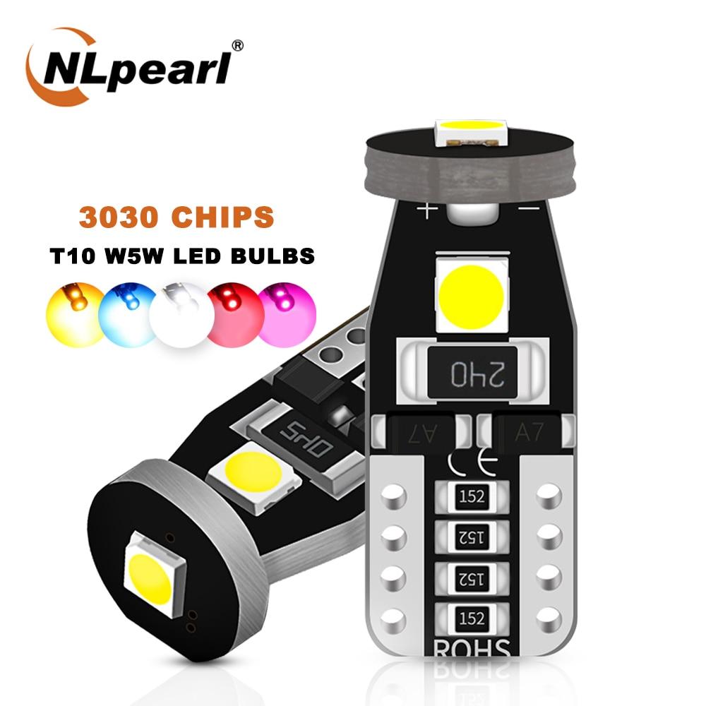 NLpearl 2x T10 светодиодные лампы 3030 SMD W5W Led 194 168 Габаритные фонари для автомобиля Купол лампы для чтения сигнальная лампа 12V Белый Красный цвет жел...