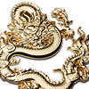 Noizzy Chinese Dragon Ball Z Emperor Symbol 3D Metal Auto VIP Noble Car Sticker Emblem Gold Badge Tuning Accessories Car Styling promo