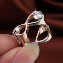 Lingmei nova moda anéis de casamento duas tonewomen lindo jóias branco zircon prata colorring tamanho 6-9