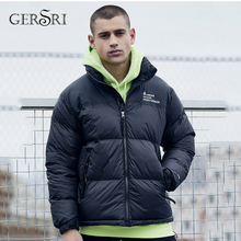 Gersri Winter warm jacket men thick coat casual long-sleeved warm Parks coat men down cotton coat brand clothing oem wh037