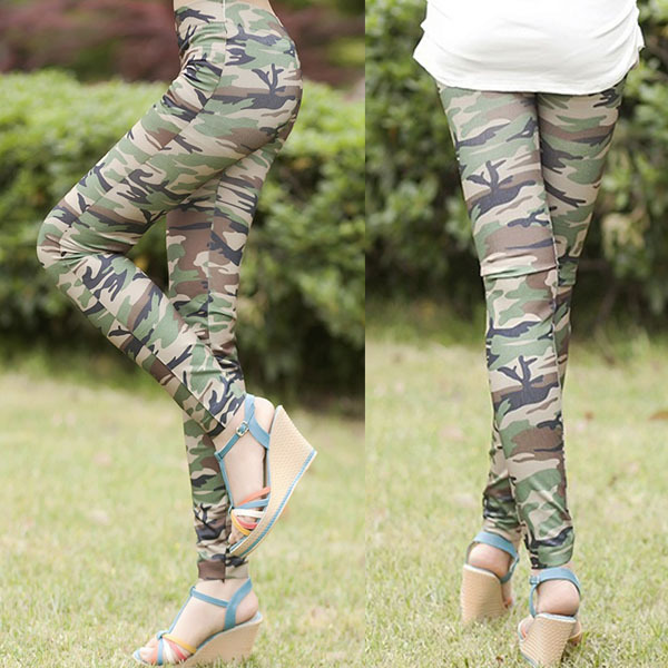 Newest Women Camouflage Army Print Stretch Cool Sexy Women's Pants Skinny Leggings Trousers Women 1